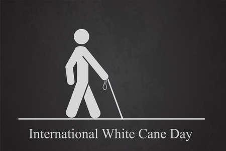 WHITE CANE DAY man cross Ilustração