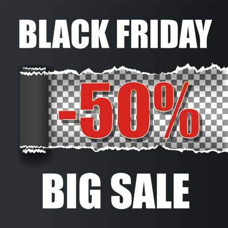 Black Friday vect ripped paper back