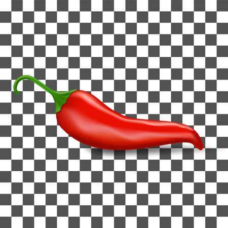 red chilli pepper icon Ilustração
