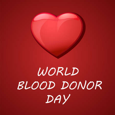 World blood donor day card Vect ill