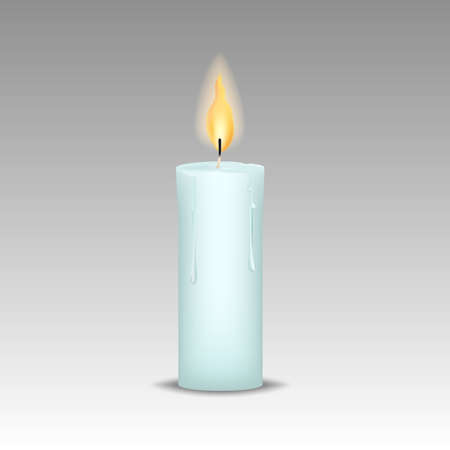 candle with burn flames Vector ill