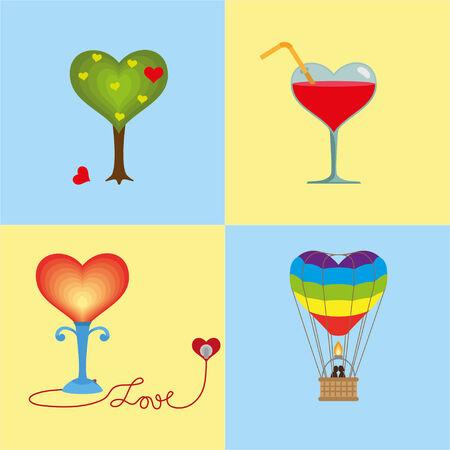 rainbow cocktail: Cuatro corazones est�n unidos por un tema