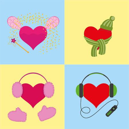 symbolize: four hearts symbolize warmth, music and magic