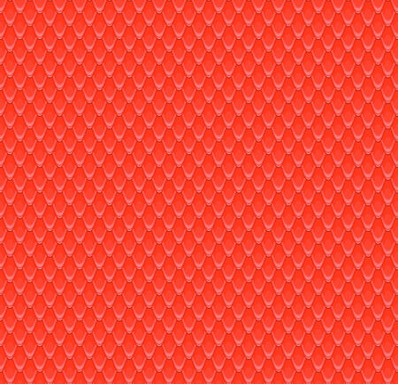 serpentes: the red scales of a snake, fish, dragon, or other animal, seamless texture
