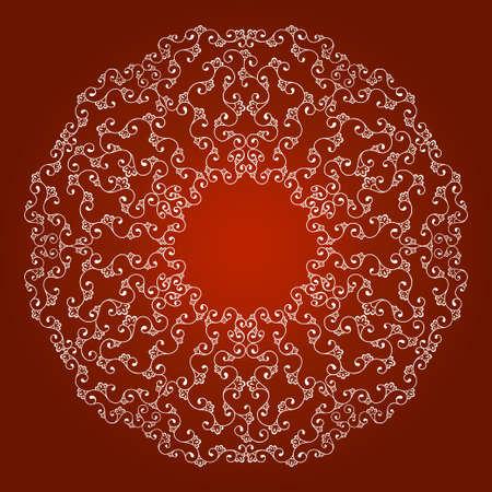 star border: border seamless ornament bright line on a red background Illustration