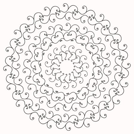 whorls: round floral pattern of whorls, floral ornament