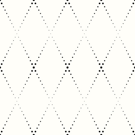rhombic: rhombic pattern of small black dots on a white background Illustration