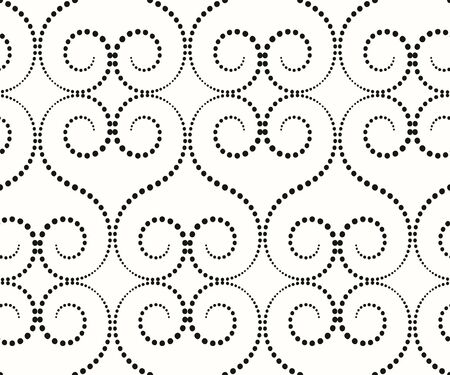 whorls: the pattern of large whorls, whorl of small black dots on a white background