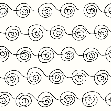 scrollwork: seamless pattern curls line on a light background