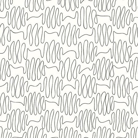 scrawl: sin fisuras patrón línea rizos sobre un fondo claro