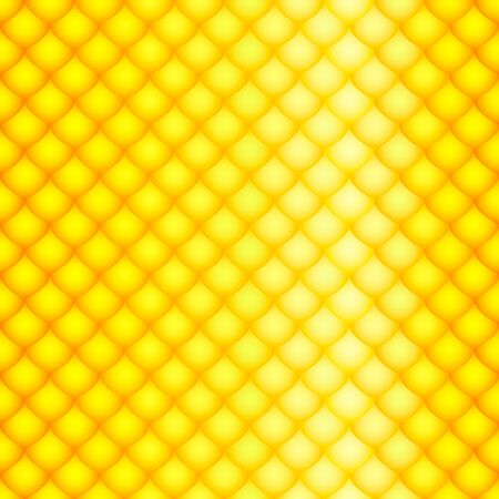 serpentes: the scales yellow of a snake, fish, dragon, or other animal, seamless texture glossy Illustration