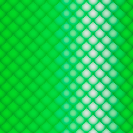 serpentes: the scales green of a snake, fish, dragon, or other animal, seamless texture with shine