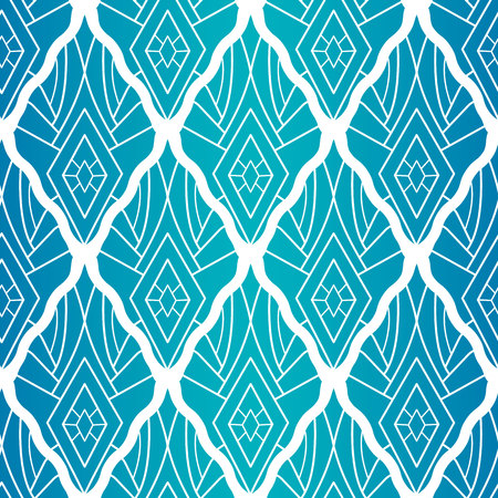 Rhombic seamless pattern. A light line on the gradient. Diamond pattern in ethno boho style.