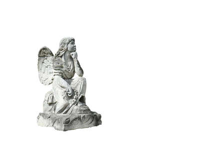 Angel statue isolated on white background
