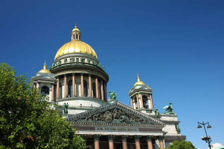 Famous Isaac's cathedral (temple) at daylight in St. Petersburg, Russia.