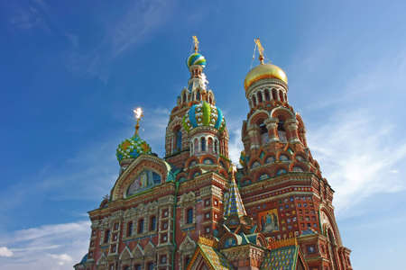 Famous church building in St. Petersburg, Russia.