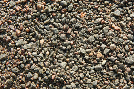 Lots of small stones forming a gravel surface
