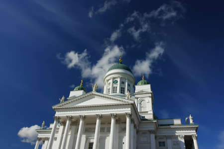 Helsinki city lutheran cathedral, built by German architect and located at the Senate square. The finnish name is: Tuomiokirkko. Standard-Bild