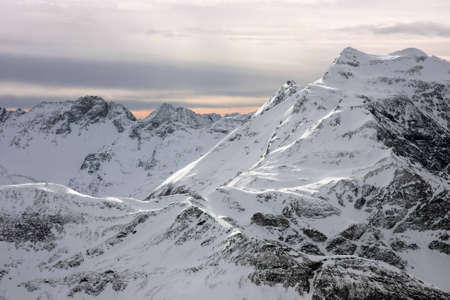Mountain view in Austrian Alps Standard-Bild