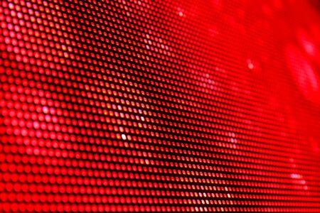 Eine Oberfläche LED Videoanzeige der roten Farbe. Shallow depth of field für ein unscharfes Wirkung. Standard-Bild - 18443636