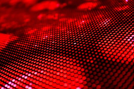 A matrix of LEDs showing a computer image as a single LED screen. Shallow depth of field for a blurred effect.