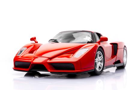 赤いスポーツカーのプラモデル 写真素材
