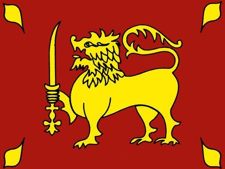 flag in Sri lanka