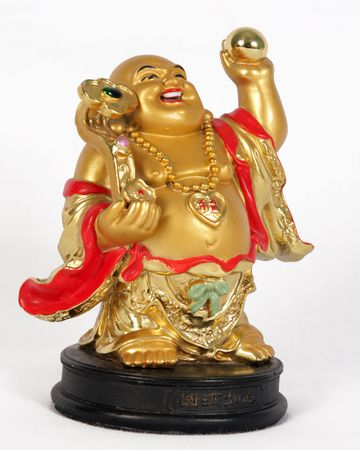 good fortune: laughing god  Stock Photo