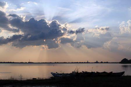sunset in sri lanka photo