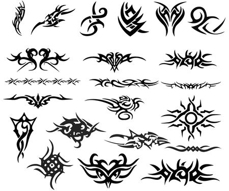 lot of tatoo degsine Stock Photo