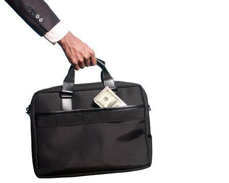 dollars in a bag