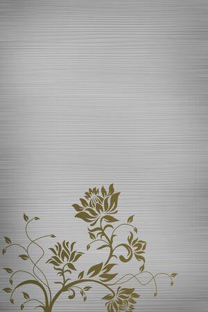Flower art blank paper Stock Photo