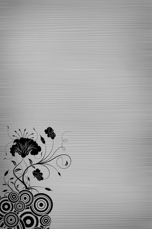 a4 background: Flower art blank paper Stock Photo