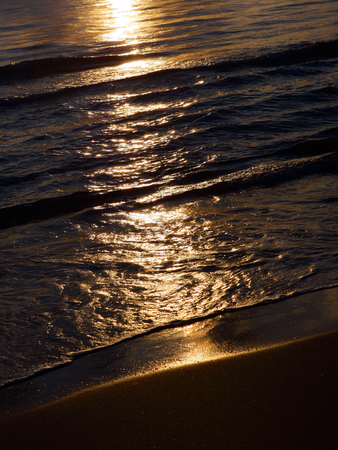 close up in sea waves Stock Photo