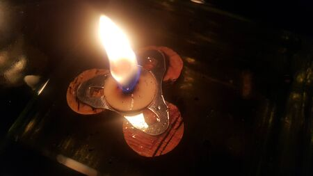 macroshot: fire in the jar