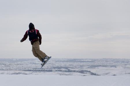 Junior Snowboarder, Calgary, Alberta, Canada, January 16, 2011 Editorial