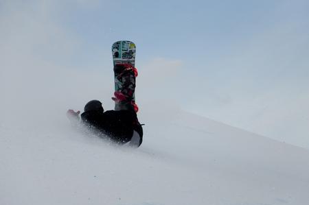 Junior snowboarder, Calgary, Alberta, Canada, 16 januari 2011