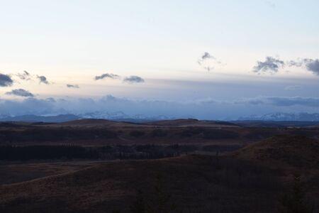 Prairies Landscapes in Winter Foto de archivo