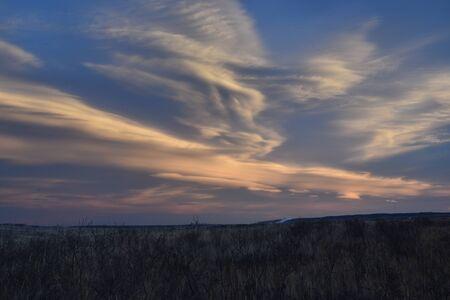 冬の草原の風景 写真素材 - 92157891