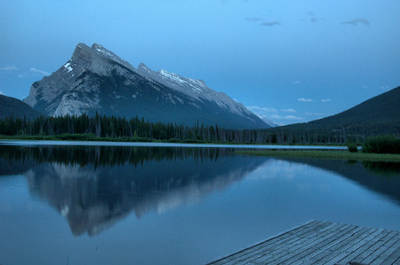 Mountains in the Canadian Rockies Stock Photo - 92426010