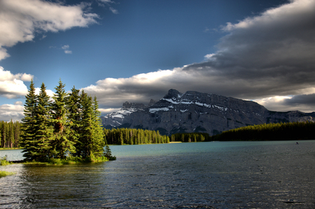Mountains in the Canadian Rockies