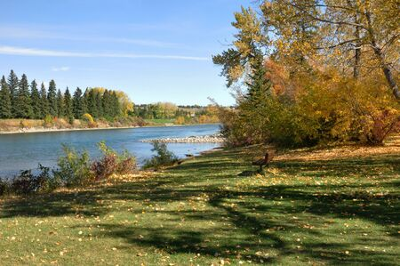 Fall Landscapes by the River Zdjęcie Seryjne