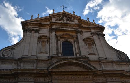 Exterior of Chiesa del Santissimo Nome Di Gesu all Argentina, Rome, Italy, November 23rd 2017
