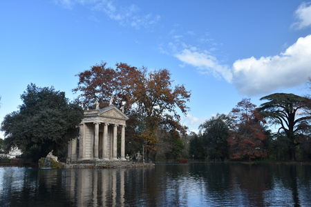 The Temple of Asclepius, VIlla Borghese, Rome, Italy, November 30th, 2017 Editöryel