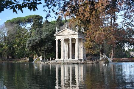 The Temple of Asclepius, VIlla Borghese, Rome, Italy, November 30th, 2017 Stok Fotoğraf - 95704484