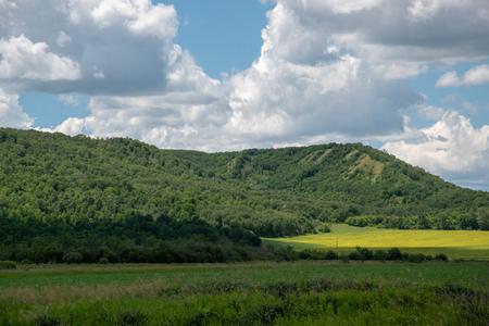 Farm land in the Qu'Appelle Valley, Eastern Saskatchewan, Canada.
