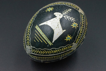 Pysanka is a Ukrainian Easter Egg decorated with traditional Ukrainian folk designs using a wax-resist method. Фото со стока