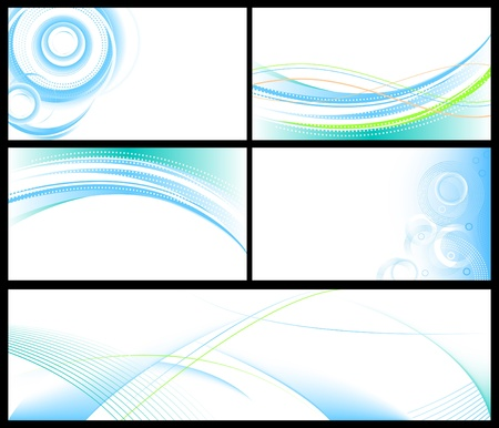 Abstract blue backgrounds & banners set Illustration