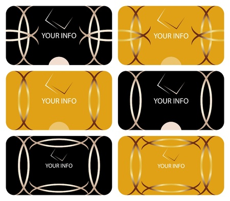 Abstract business cards collection Vector