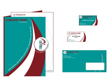 Corporate style elements. Leadership, innovation and breakthrough are the leitmotif. Vector